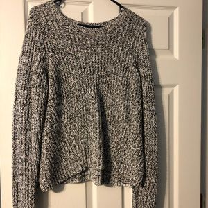 GAP Black & White Marbled Sweater, L, Cotton